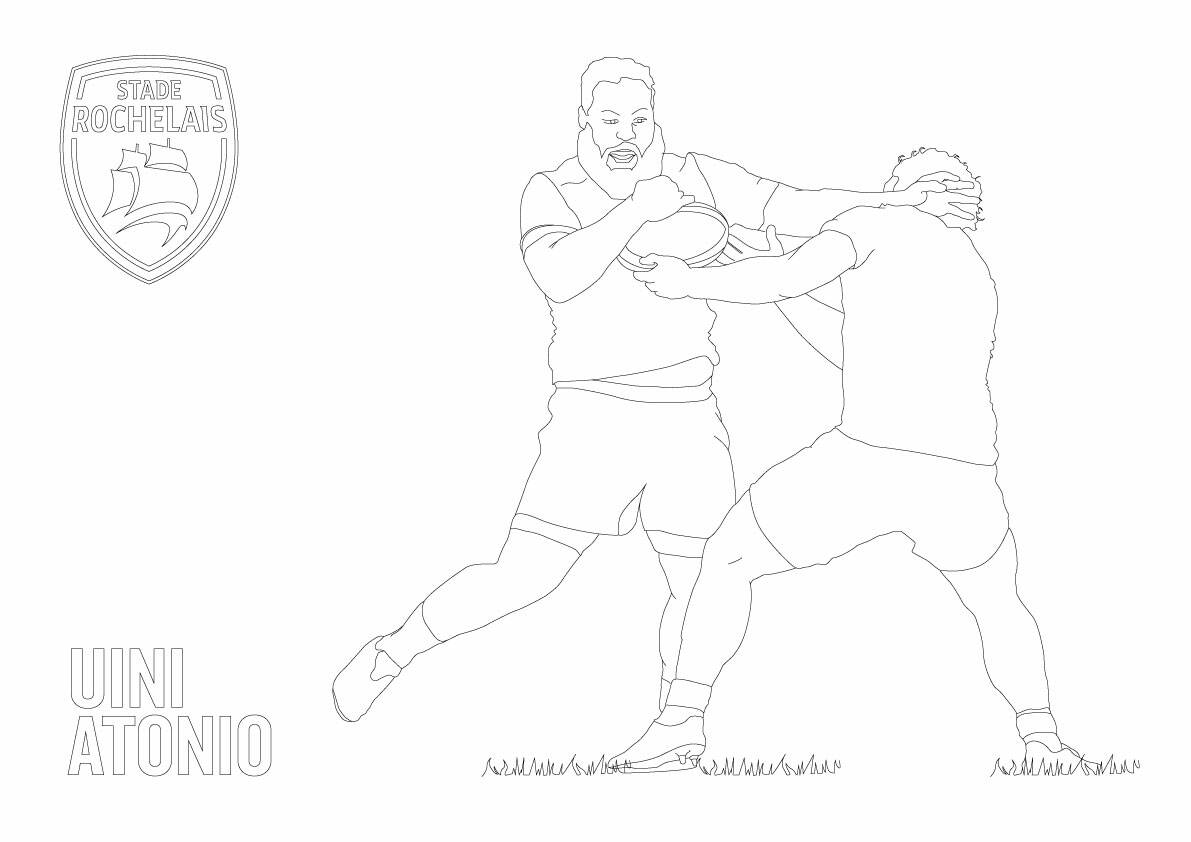Coloriage rugby top 14 couleur - Coloriage top 14 ...