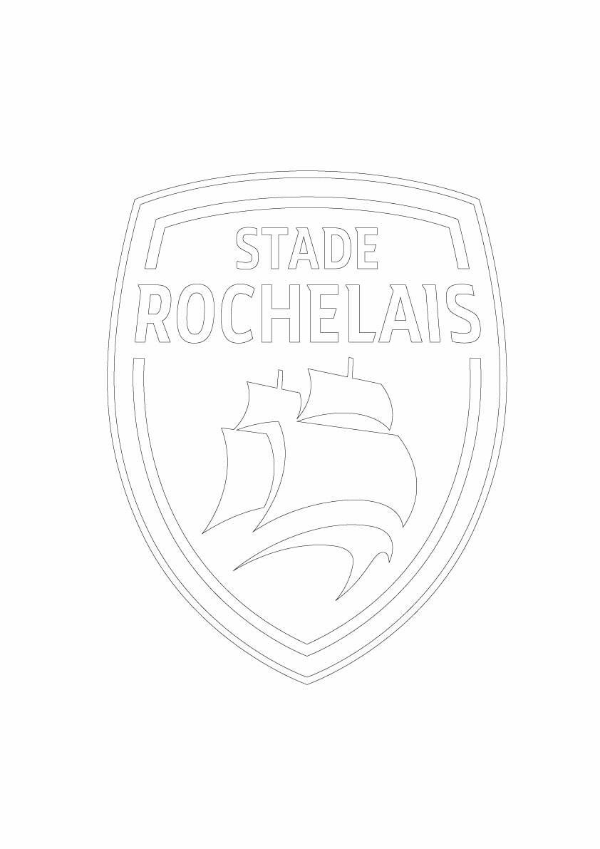 Coloriages stade rochelais - Coloriage ecusson ...