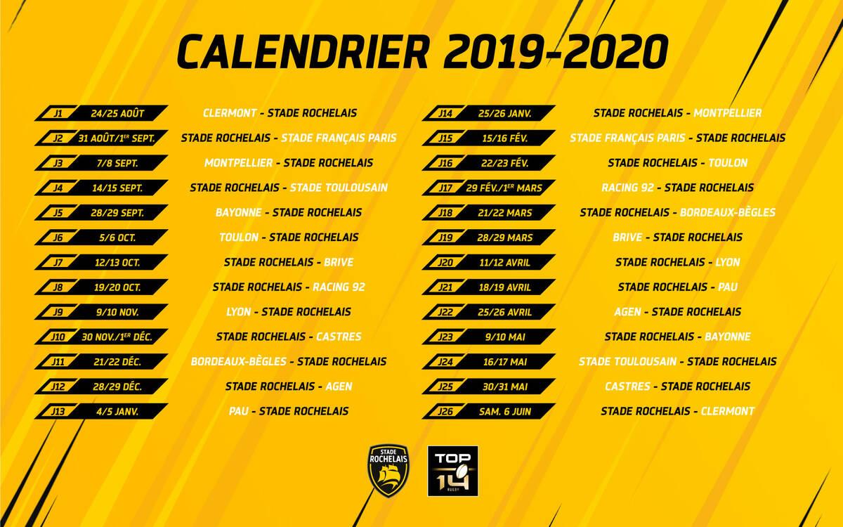 Calendrier Top 14 Saison 2020 2019.A Clermont Pour Commencer La Saison Stade Rochelais