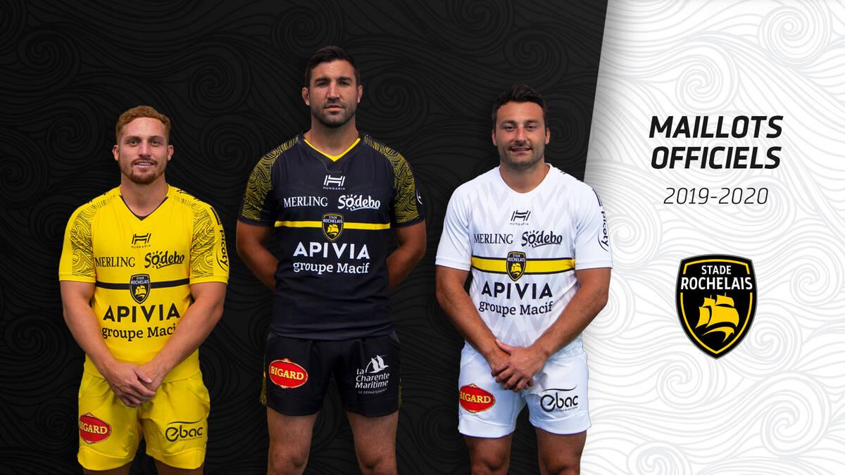Calendrier Top 14 Saison 2020 2019.Devoilement Des Maillots Officiels 2019 2020 Stade Rochelais