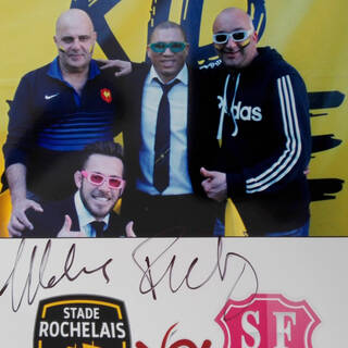 Photo souvenir de Sébastien avec Zack Holmes et Ricky Januarie !