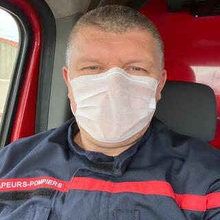 """David - Sapeur-pompier - """"Sauvons des vies, restez chez vous !"""""""