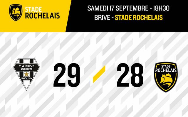 Brive 29 - 28 Stade Rochelais