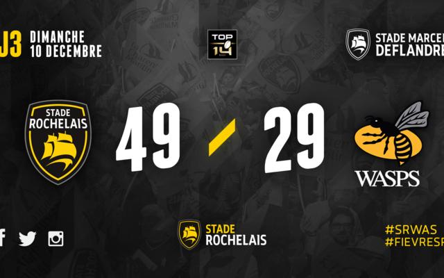 ERCC - J3 - Stade Rochelais 49 / 29 Wasps