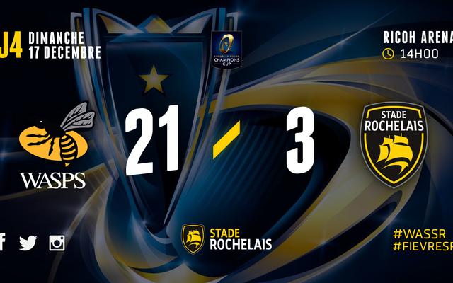 ERCC - J4 - Wasps 21 / 3 Stade Rochelais