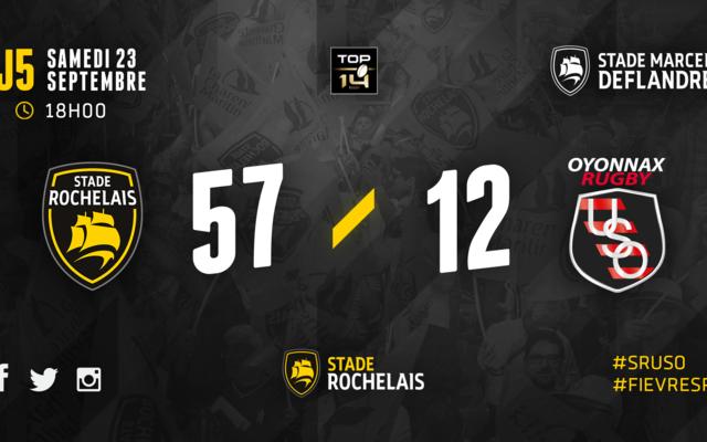 J5 - Stade Rochelais 57 / 12 Oyonnax