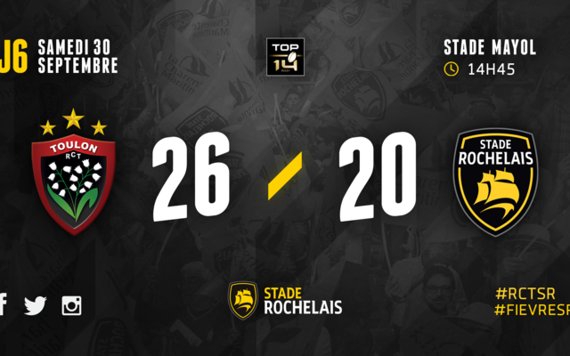 J6 - Toulon 26 / 20 Stade Rochelais
