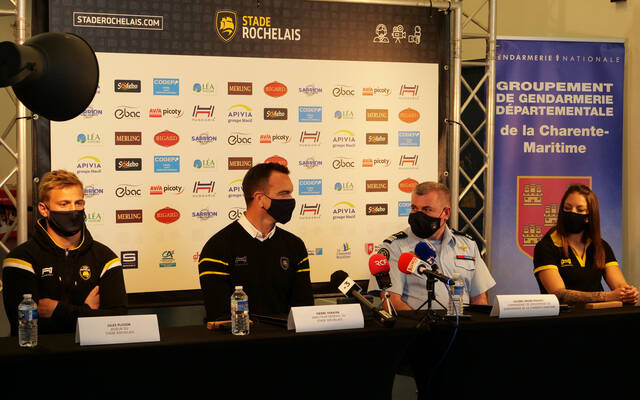Le Stade Rochelais et la Gendarmerie de la Charente-Maritime s'associent pour lutter contre les violences intrafamiliales
