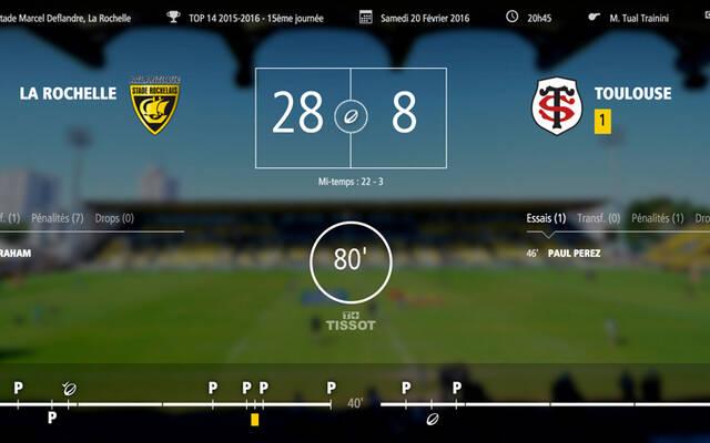 Le Stade Rochelais l'emporte 28-8 devant Toulouse