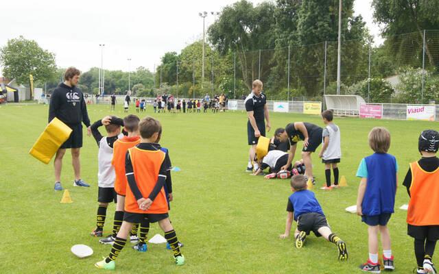 Les Pros de retour à l'Ecole de Rugby
