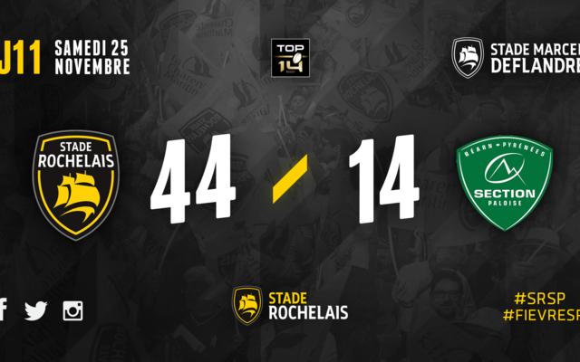 J11 - Stade Rochelais 44 / 14 Pau