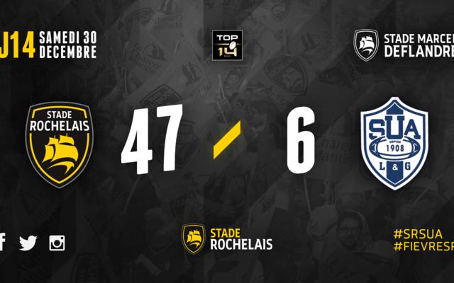 J14 - Stade Rochelais 47 / 6 Agen