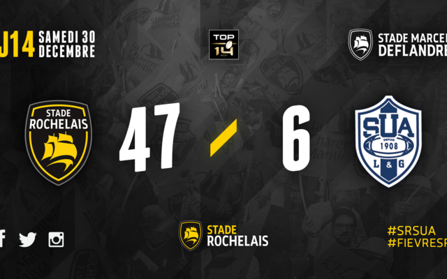 R14 - Stade Rochelais 47 / 6 Agen