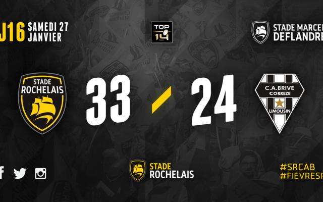 J16 - Stade Rochelais 33 / 24 Brive