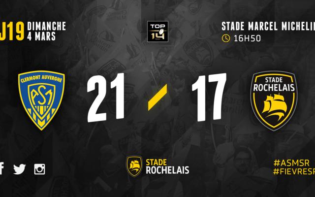 R19 - Clermont 21 / 17 Stade Rochelais