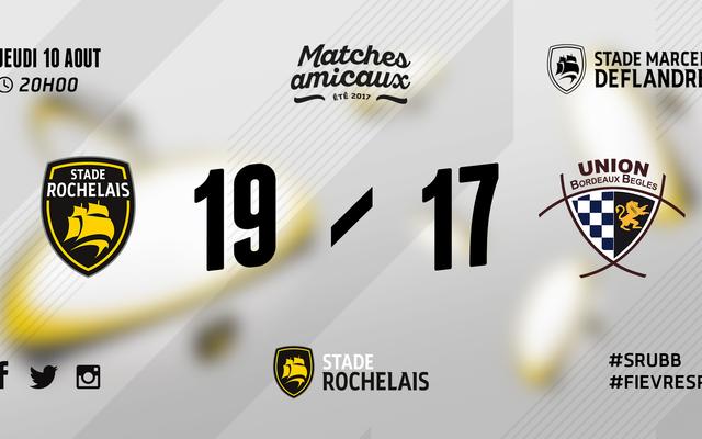 Stade Rochelais 19 - 17 UBB