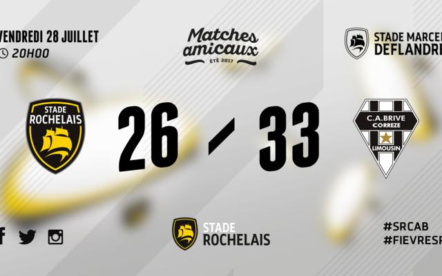Stade Rochelais 26 -33 Brive