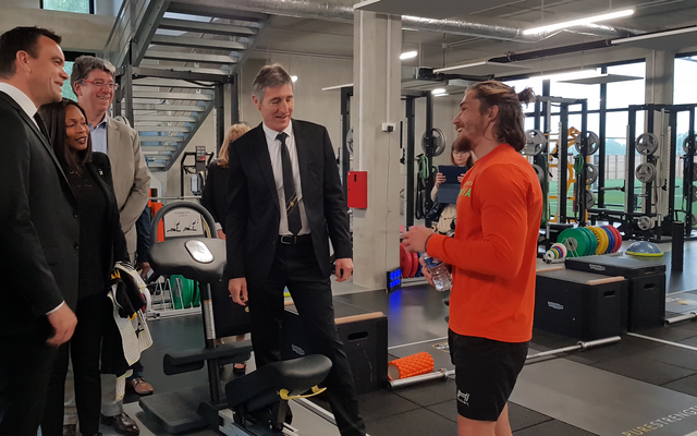 The Sports Minister visiting our Performance Center