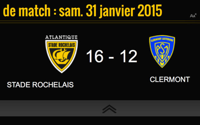 Victoire 16 à 12 face à Clermont !!