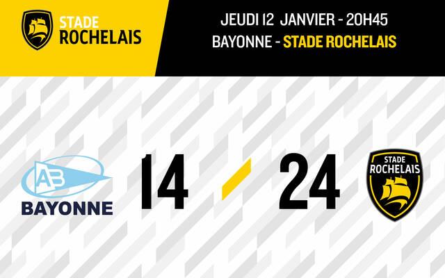 Victoire 24-14 à Bayonne