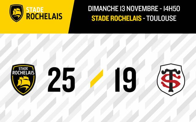 Victoire 25 - 19 !