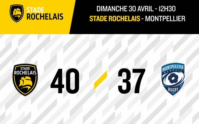Victoire 40 à 37 face à Montpellier