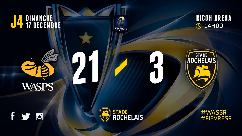 ERCC - R4 - Wasps 21 / 3 Stade Rochelais