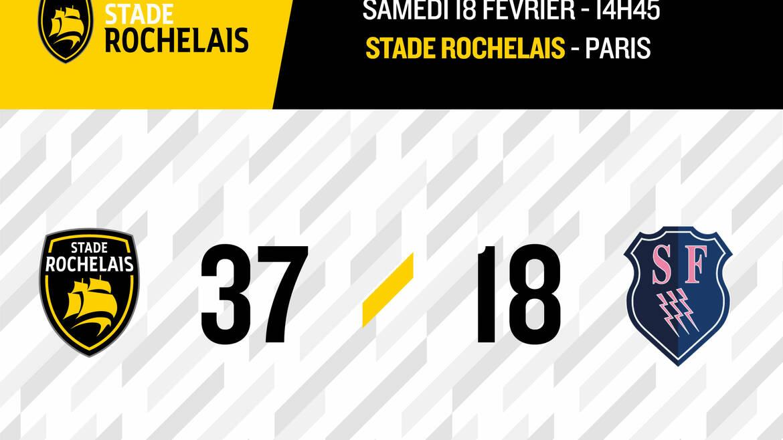 Victoire 37-18 face à Paris !