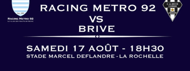 Billetterie RACING / BRIVE
