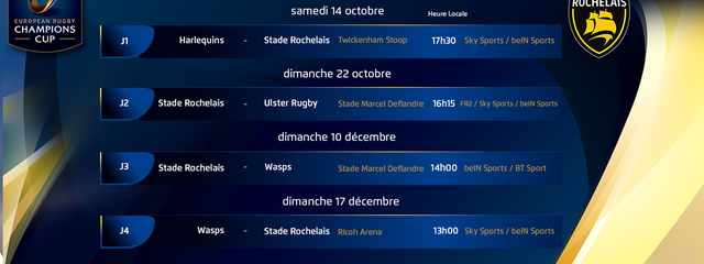 Champions Cup : le calendrier 2017/2018 !