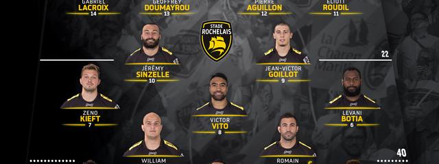J1 - Brive / Stade Rochelais : la compo !