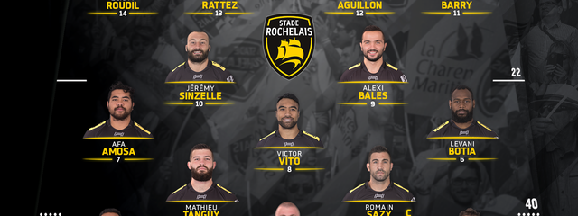 J20 - Pau / Stade Rochelais : la compo !