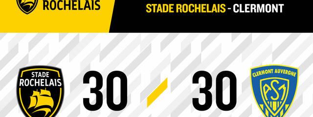 Stade Rochelais 30 - 30 Clermont
