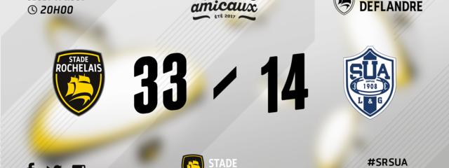 Stade Rochelais 33 - 14 Agen