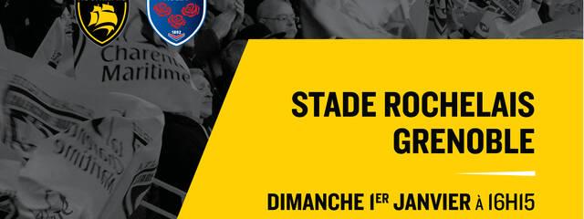 Stade Rochelais - Grenoble : vente flash de 72h !