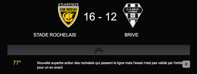 Victoire 19 à 12 face à Brive !!